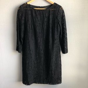 Tribe Turk black lace shift dress 8.